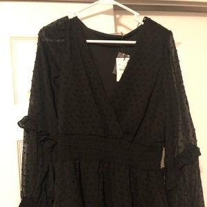 Cute mini black dress